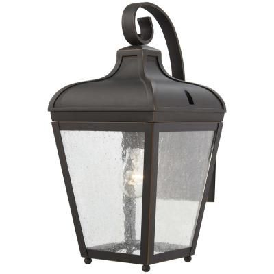 The Great Outdoors Marquee 1 Light Oil Rubbed Bronze With Pertaining To Heinemann Rubbed Bronze Seeded Glass Outdoor Wall Lanterns (View 5 of 20)
