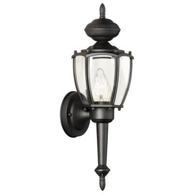 Thomas Lighting Park Avenue 1 Light Outdoor Hanging Black With Regard To Jaceton Black Outdoor Wall Lanterns (View 6 of 20)