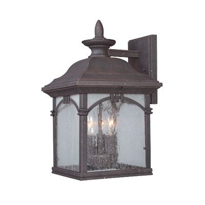 Popular Photo of Payeur Hammered Glass Outdoor Wall Lanterns