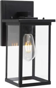 Todoluz 1 Light Outdoor Lantern Wall Lighting, Matte Black Regarding Nayen Black Wall Lanterns (View 17 of 20)