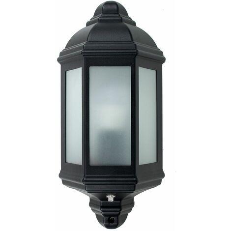 Traditional Black Aluminium Outdoor Porch Wall Flush Ip44 Throughout Borde Black Outdoor Wall Lanterns (View 11 of 20)
