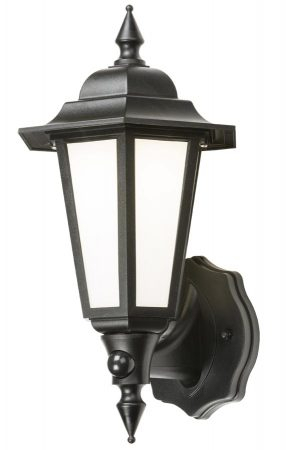 Traditional Led Outdoor Pir Wall Lantern Manual Override Pertaining To Edinburg Black Outdoor Wall Lanterns (View 1 of 20)