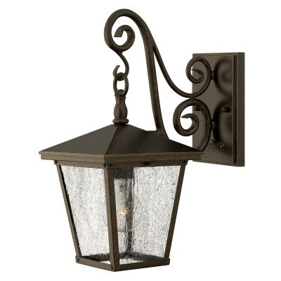 Trellis Outdoor Small Wall Lantern In A Regency Bronze Throughout Caroline Outdoor Wall Lanterns (View 2 of 20)