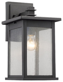 """Tristan 1 Light Black Outdoor Wall Sconce 14"""" High For Borde Black Outdoor Wall Lanterns (View 15 of 20)"""