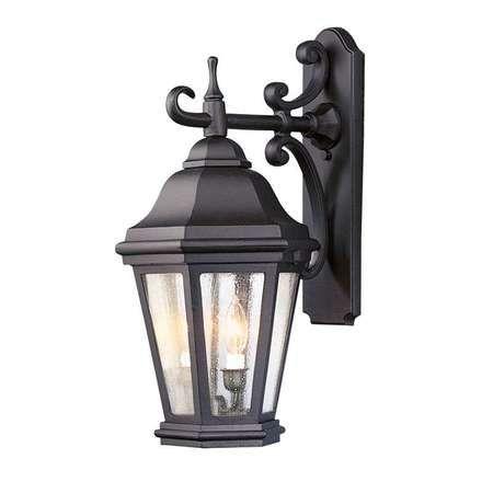 "Troy Verona 22"" Led Outdoor Wall Lantern – Bronze Bl6891bz In Needham Dark Bronze Seeded Glass Outdoor Lights (View 2 of 20)"