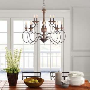 Turcot 12 Light Candle Style Chandelier & Reviews | Birch Lane With Regard To Turcot Wall Lanterns (View 7 of 11)