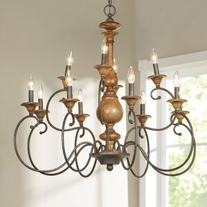Turcot 12 Light Candle Style Chandelier & Reviews | Birch Lane With Turcot Wall Lanterns (View 5 of 11)