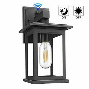 Upgrade Dusk To Dawn Sensor Outdoor Wall Lanterns For Walland Black Outdoor Wall Lanterns (View 19 of 20)
