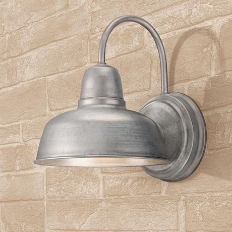 "Urban Barn 11 1/4"" High Galvanized Indoor Outdoor Wall For Arryonna Outdoor Barn Lights (View 1 of 20)"