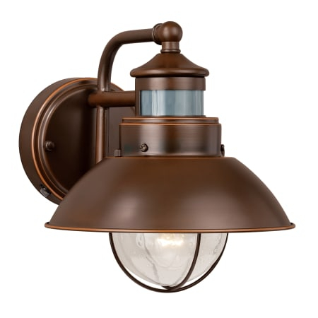Vaxcel Lighting T0125 Burnished Bronze Harwich 1 Light 9 With Regard To Clarisa Seeded Glass Outdoor Barn Lights With Dusk To Dawn (View 4 of 20)