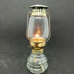 Vintage Clear Glass Metal Kerosene Lamp Lantern Indoor Within Meunier Glass Outdoor Wall Lanterns (View 15 of 20)