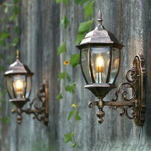 Vintage Waterproof Outdoor Lantern Coach Light Black/brass With Nayen Black Wall Lanterns (View 12 of 20)