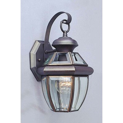 Volume Lighting Beveled Glass Outdoor Wall Lantern   Wayfair Inside Bayou Beveled Glass Outdoor Wall Lanterns (View 1 of 20)