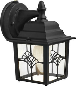 Wall Light 60 Watt Porch Fixture Dusk To Dawn Photocell Intended For Ballina Matte Black Outdoor Wall Lanterns With Dusk To Dawn (View 11 of 20)