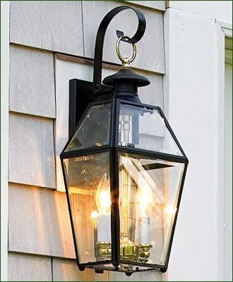 Walpole Outdoors Lanterns Pertaining To Gillian 3 – Bulb Beveled Glass Outdoor Wall Lanterns (View 10 of 20)