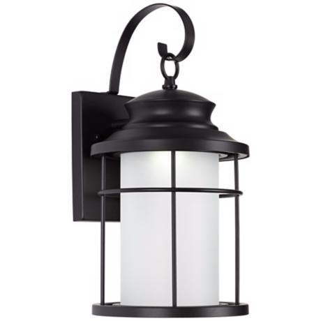 "Warburton 16"" High Black Led Outdoor Wall Light – #x1959 Regarding Ciotti Black Outdoor Wall Lanterns (View 4 of 20)"