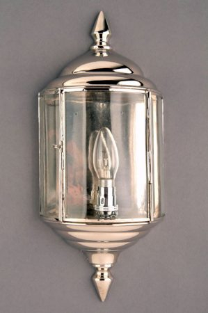 Wentworth Art Deco Style Polished Nickel Outdoor Wall Within Caroline Outdoor Wall Lanterns (View 16 of 20)