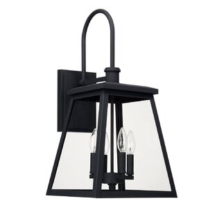 """Wrentham 4 – Bulb 24"""" H Smooth Clear Glass Outdoor Wall With Wrentham Beveled Glass Outdoor Wall Lanterns (View 15 of 20)"""