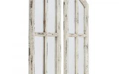 2 Piece Kissena Window Pane Accent Mirror Sets