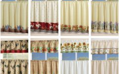 Chocolate 5-piece Curtain Tier and Swag Sets