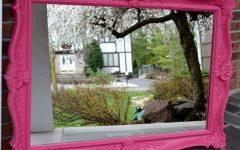 Large Pink Mirrors
