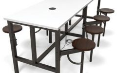 """72"""" L Breakroom Tables and Chair Set"""