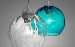 Turquoise Blue Glass Pendant Lights