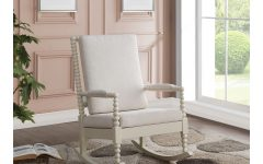 Rocking Chairs in Cream Fabric and White