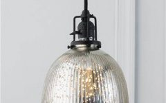 Mercury Glass Globes Pendant Lights