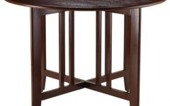Alamo Transitional 4-seating Double Drop Leaf Round Casual Dining Tables