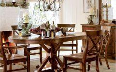 Alfresco Brown Benchwright Pedestal Extending Dining Tables