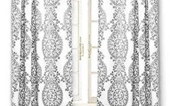 Pastel Damask Printed Room Darkening Grommet Window Curtain Panel Pairs