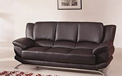 Contemporary Black Leather Sofas
