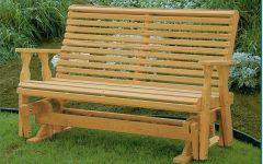 Hardwood Porch Glider Benches