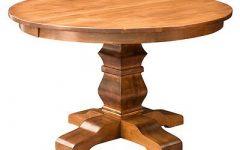 Monogram 48'' Solid Oak Pedestal Dining Tables