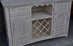 White Sideboard with Wine Rack