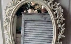 Antique White Oval Mirrors