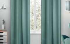 Sateen Twill Weave Insulated Blackout Window Curtain Panel Pairs