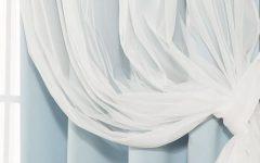 Mix & Match Blackout Tulle Lace Bronze Grommet Curtain Panel Sets