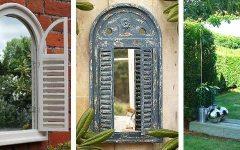 Outdoor Garden Wall Mirrors