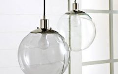 Round Clear Glass Pendant Lights