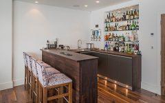 Glass Shelves for Bar Area