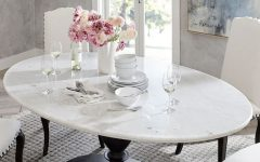 Chapman Marble Oval Dining Tables
