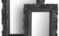 Black Baroque Mirrors