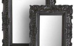Black Rococo Mirrors