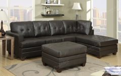Diana Dark Brown Leather Sectional Sofa Set