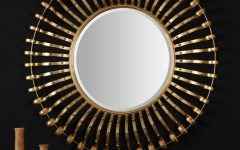 Large Round Gold Mirrors