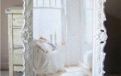 Large Ornate White Mirrors