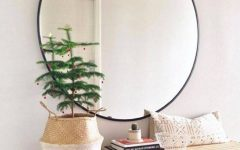 Large Black Round Mirrors