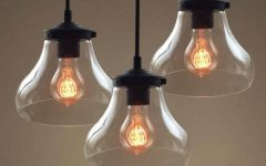 Rustic Clear Glass Pendant Lights